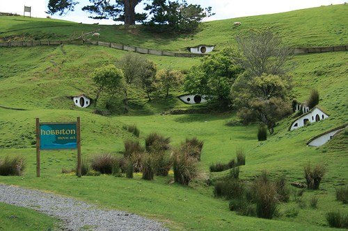 The real life version of Hobbiton is a popular tourist destination
